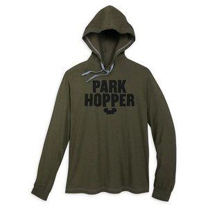 "Disney Men's ""Park Hopper"" T-Shirt Hoodie"